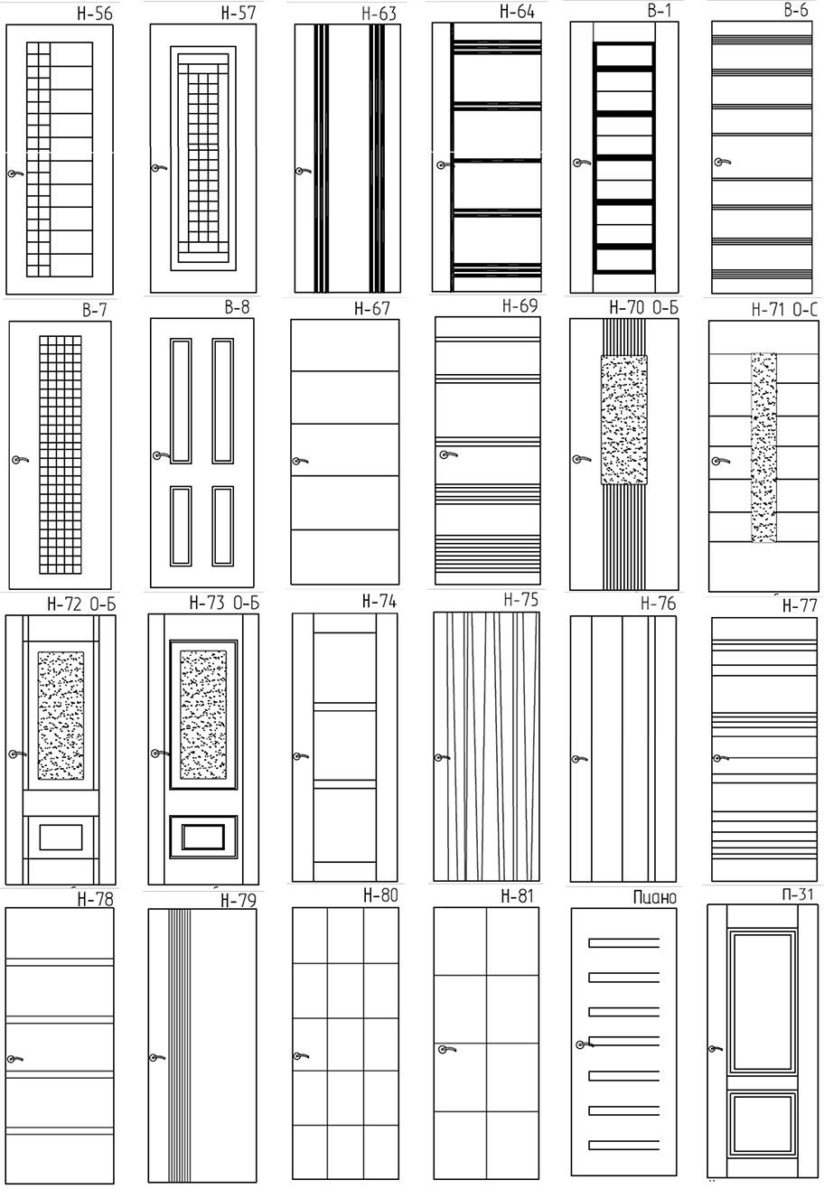 Двери для квартиры по индивидуальному заказу 10